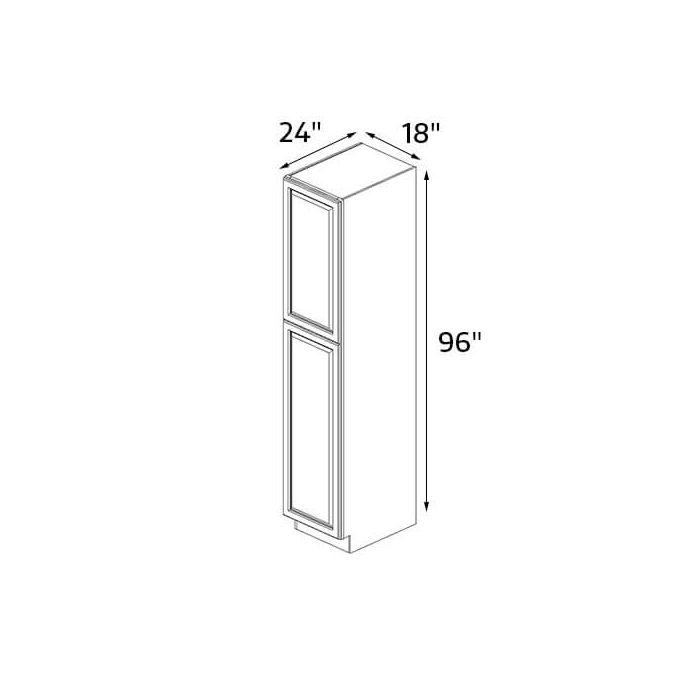 Hazelnut Latte 18''x96'' Wall Pantry Cabinet RTA Cabinets ...