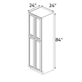 Imperial White 24''x84'' Wall Pantry Cabinet RTA Cabinets ...